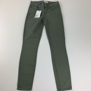 Paige Army Green Jeans Womens 24 Verdugo Ankle